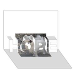 American Eskimo Dog Full HOPE 3D Greeting Card (7x5)