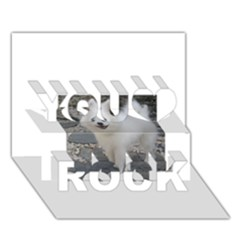 American Eskimo Dog Full You Rock 3D Greeting Card (7x5)