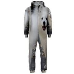 American Eskimo Dog Full Hooded Jumpsuit (Men)