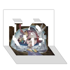World Peace LOVE 3D Greeting Card (7x5)