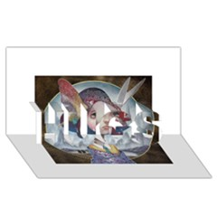 World Peace Hugs 3d Greeting Card (8x4)