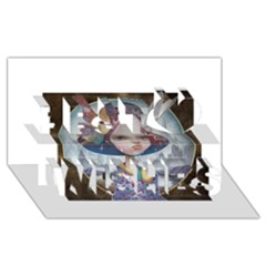 World Peace Best Wish 3d Greeting Card (8x4)