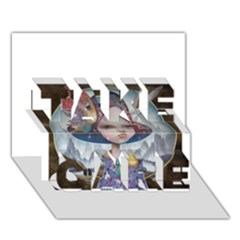 World Peace Take Care 3d Greeting Card (7x5)