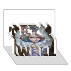 World Peace Get Well 3d Greeting Card (7x5)