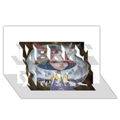 World Peace Merry Xmas 3d Greeting Card (8x4)