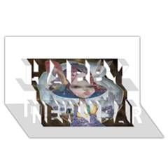 World Peace Happy New Year 3d Greeting Card (8x4)