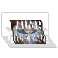 World Peace Laugh Live Love 3d Greeting Card (8x4)