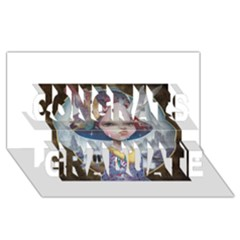 World Peace Congrats Graduate 3d Greeting Card (8x4)
