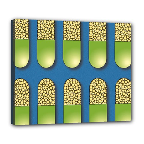 Capsule Pattern Deluxe Canvas 24  x 20