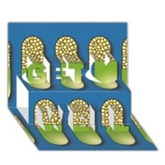 Capsule Pattern Get Well 3d Greeting Card (7x5)