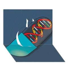 Dna Capsule Apple 3D Greeting Card (7x5)