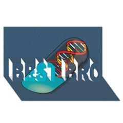 Dna Capsule BEST BRO 3D Greeting Card (8x4)