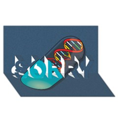 Dna Capsule SORRY 3D Greeting Card (8x4)