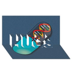 Dna Capsule HUGS 3D Greeting Card (8x4)