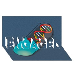 Dna Capsule ENGAGED 3D Greeting Card (8x4)