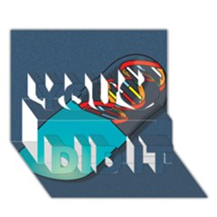 Dna Capsule You Did It 3d Greeting Card (7x5)