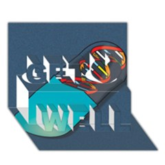 Dna Capsule Get Well 3d Greeting Card (7x5)