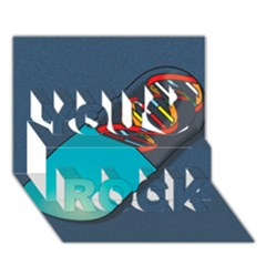 Dna Capsule You Rock 3d Greeting Card (7x5)
