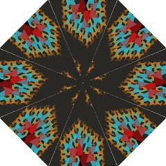 Blue, Gold, And Red Pattern Folding Umbrellas