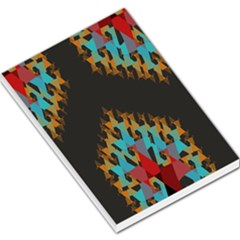 Blue, Gold, and Red Pattern Large Memo Pads