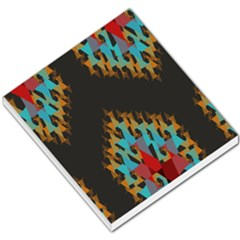 Blue, Gold, and Red Pattern Small Memo Pads