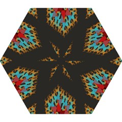 Blue, Gold, And Red Pattern Mini Folding Umbrellas
