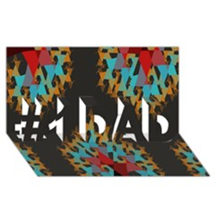 Blue, Gold, And Red Pattern #1 Dad 3d Greeting Card (8x4)