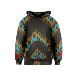 Blue, Gold, and Red Pattern Kid s Pullover Hoodies