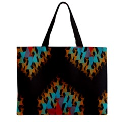 Blue, Gold, and Red Pattern Zipper Tiny Tote Bags