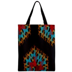 Blue, Gold, and Red Pattern Zipper Classic Tote Bags