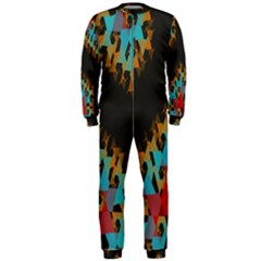 Blue, Gold, and Red Pattern OnePiece Jumpsuit (Men)