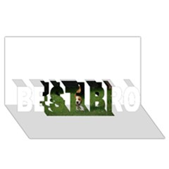 Beagle Walking BEST BRO 3D Greeting Card (8x4)
