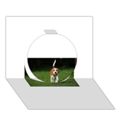 Beagle Walking Circle 3D Greeting Card (7x5)
