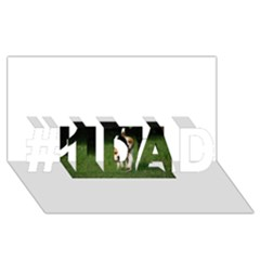 Beagle Walking #1 DAD 3D Greeting Card (8x4)