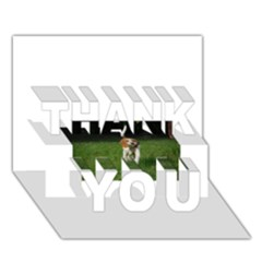 Beagle Walking THANK YOU 3D Greeting Card (7x5)