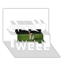 Beagle Walking Get Well 3D Greeting Card (7x5)