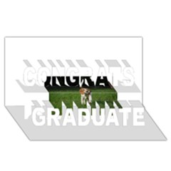 Beagle Walking Congrats Graduate 3D Greeting Card (8x4)
