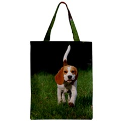Beagle Walking Zipper Classic Tote Bags