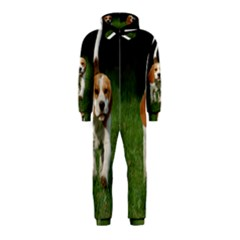 Beagle Walking Hooded Jumpsuit (Kids)