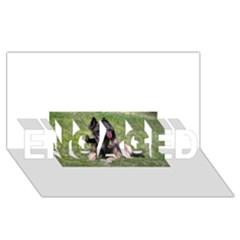 Belgian Tervuren Laying ENGAGED 3D Greeting Card (8x4)