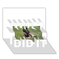 Belgian Tervuren Laying You Did It 3D Greeting Card (7x5)