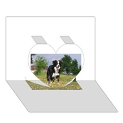 Border Collie Full 3 Heart 3D Greeting Card (7x5)