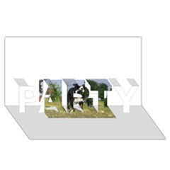 Border Collie Full 3 PARTY 3D Greeting Card (8x4)