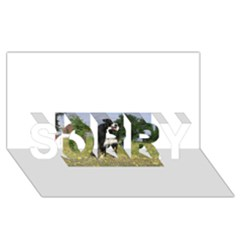 Border Collie Full 3 SORRY 3D Greeting Card (8x4)