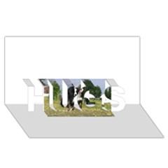 Border Collie Full 3 HUGS 3D Greeting Card (8x4)