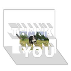 Border Collie Full 3 THANK YOU 3D Greeting Card (7x5)