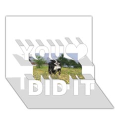 Border Collie Full 3 You Did It 3D Greeting Card (7x5)