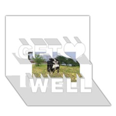 Border Collie Full 3 Get Well 3D Greeting Card (7x5)