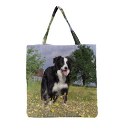 Border Collie Full 3 Grocery Tote Bags