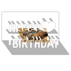 Border Terrier Sleeping Happy Birthday 3D Greeting Card (8x4)